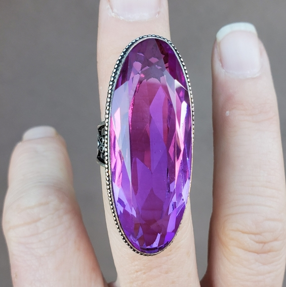 New Iolite 925 Silver Statement Ring.